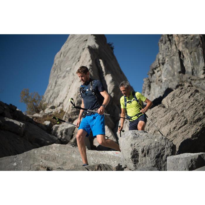 T-shirt manches courtes de randonnée rapide homme FH500 Helium Bleu marine
