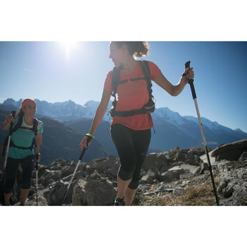 Dames T-shirt voor fast hiking FH500 Helium roze