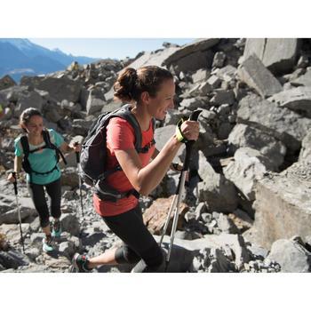 Dames T-shirt voor fast hiking FH500 Helium zwart