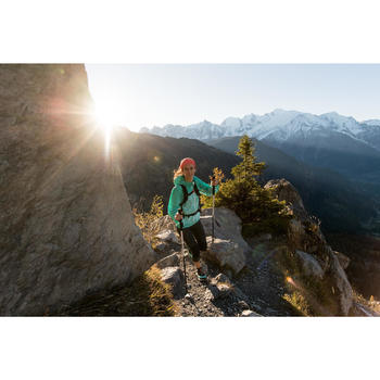 Damesschoenen voor fast hiking FH500 Helium turquoise/zwart