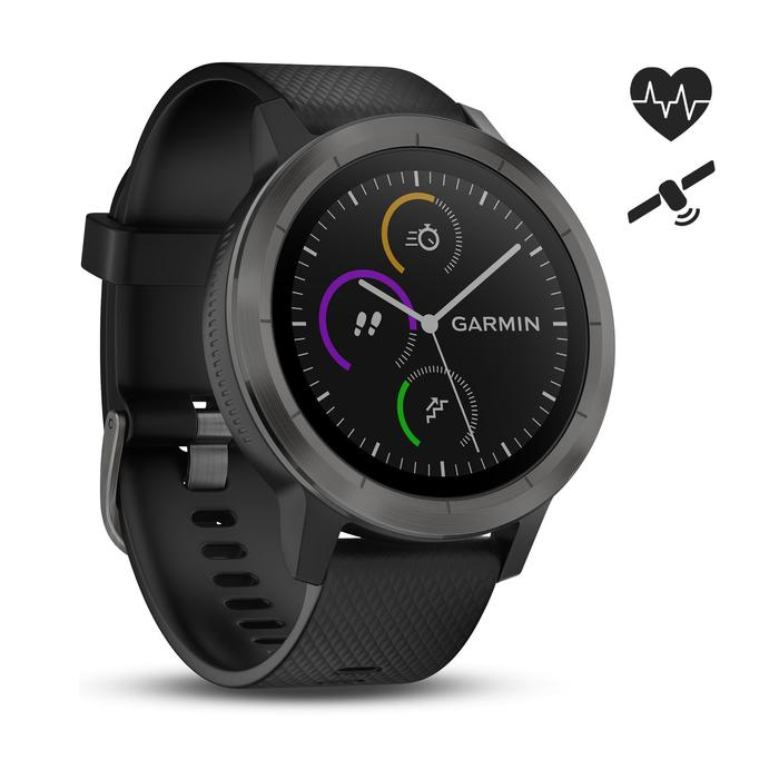 Montre connectée Vivoactive 3 avec cardio poignet et GPS noire - 1288157