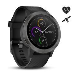Smartwatch Vivoactive 3 met hartslagmeting aan de pols en gps zwart