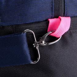 Bolsa de deportes gimnasio Cardio Fitness Domyos 30 litros azul rosa