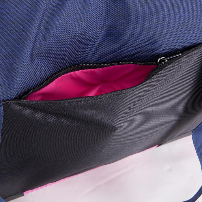 Cardiofitness tas 30 liter blauw zwart en roze