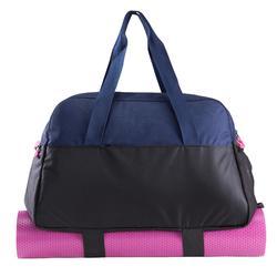 Sporttas fitness 30 liter, blauw/zwart/roze