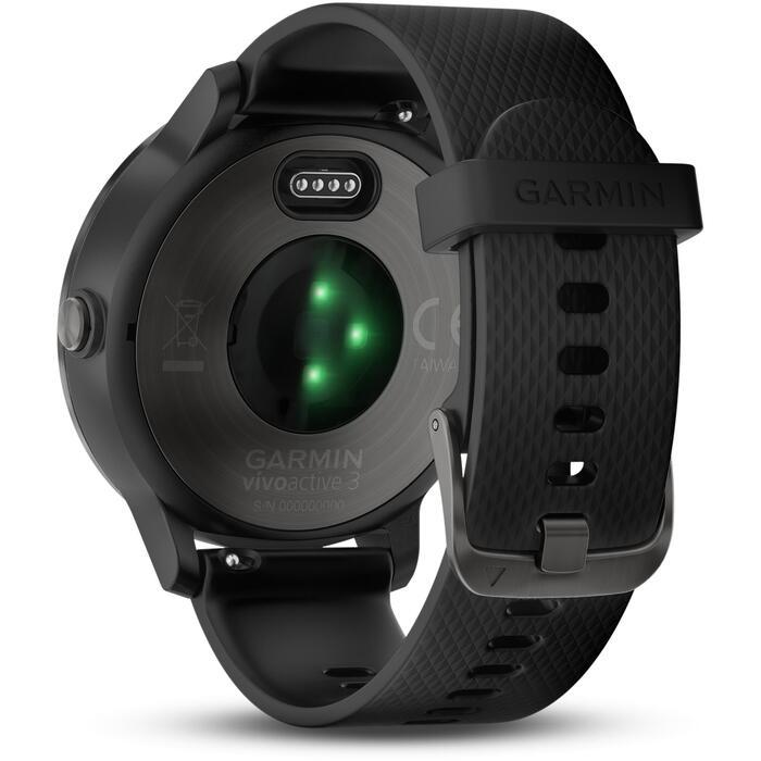 Reloj GPS Pulsómetro Muñeca Multideporte Garmin Vivoactive 3 Negro