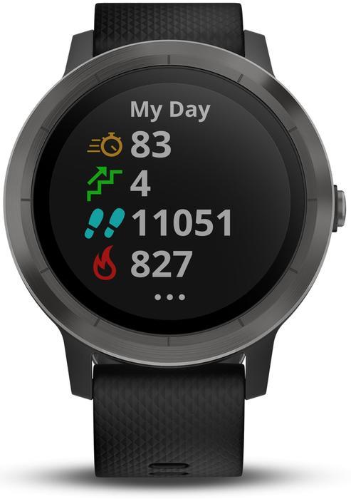 Montre connectée Vivoactive 3 avec cardio poignet et GPS noire - 1288180