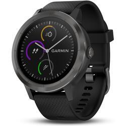 Smartwatch Garmin Vivoactive 3 met hartslagmeting aan de pols en gps zwart