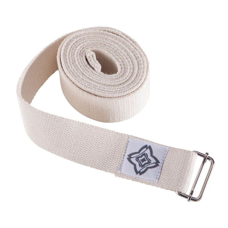 YOGA ACCESSORIES Yoga - Yoga Strap - Beige DOMYOS - Yoga Equipment