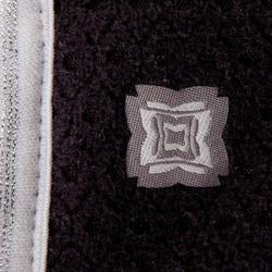 Yogadecke zweiseitig XL grau meliert/schwarz