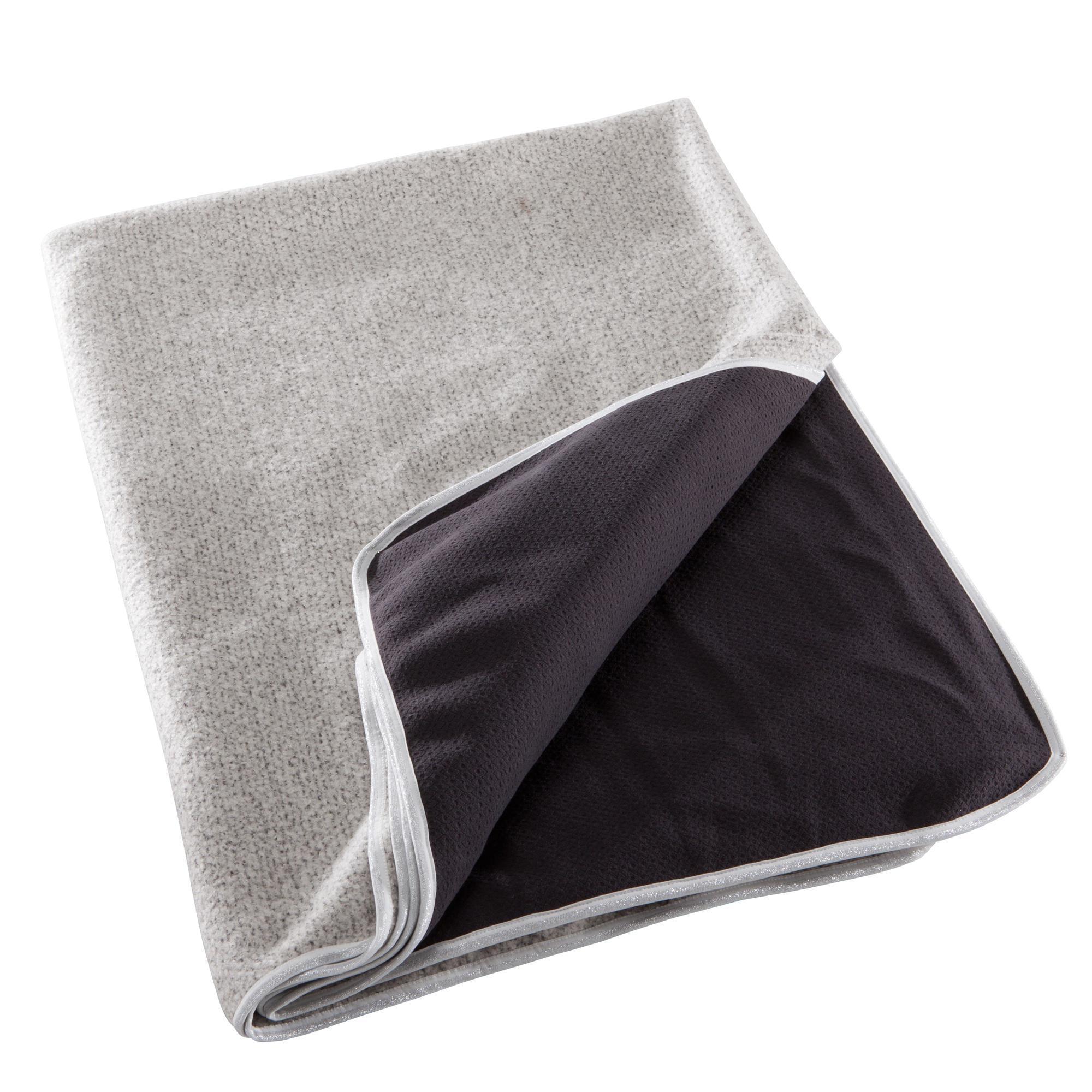 Yogadecke zweiseitig grau   03608419206876