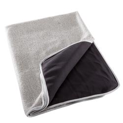 Two-Sided Yoga Blanket - Grey