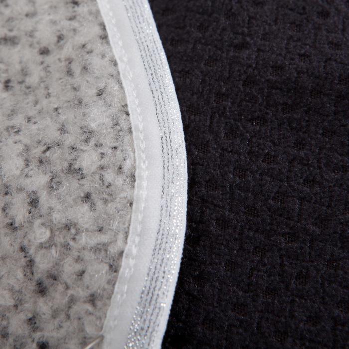 Yogadeken XL dubbelzijdig gemêleerd grijs / zwart