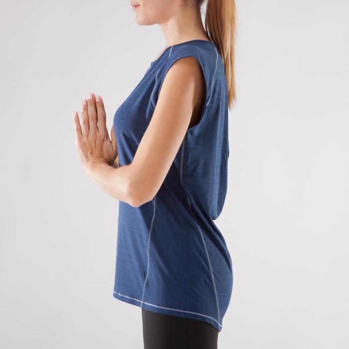 T-Shirt sans manches yoga femme chiné - 1288217