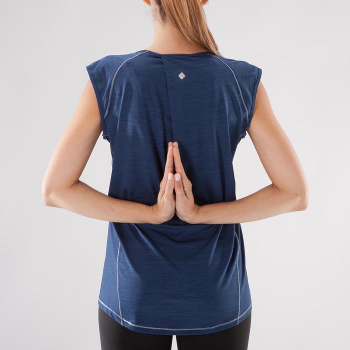 T-Shirt sans manches yoga femme chiné - 1288221