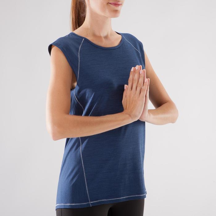 T-Shirt sans manches yoga femme chiné - 1288227