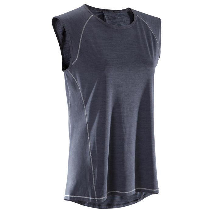 T-Shirt sans manches yoga femme chiné - 1288232