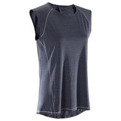 T-Shirt sans manches yoga femme chiné