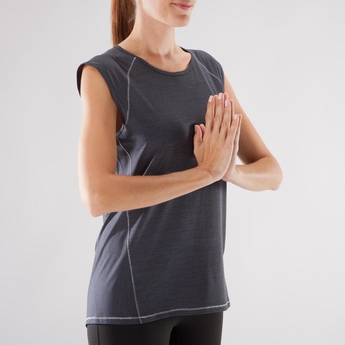 T-Shirt sans manches yoga femme chiné - 1288233