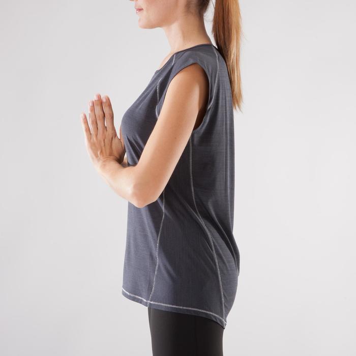 T-Shirt sans manches yoga femme chiné - 1288241