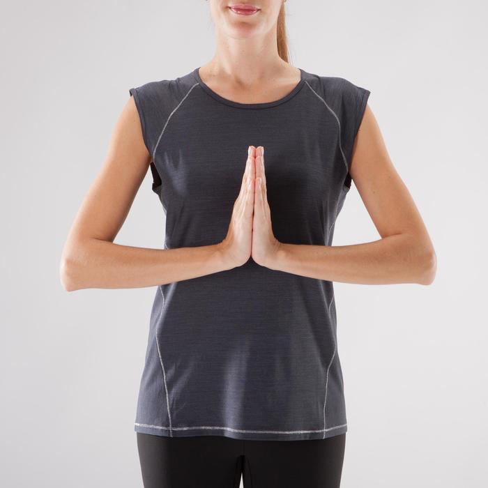 T-Shirt sans manches yoga femme chiné - 1288242