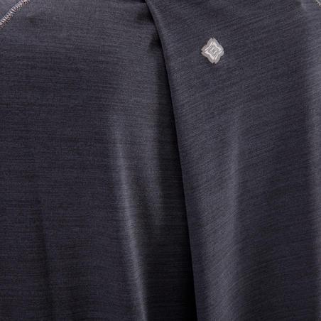 Women's Sleeveless Yoga T-Shirt - Mottled Black