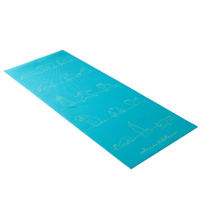 Tapis yoga enfant 5 mm ours bleu - 1288262