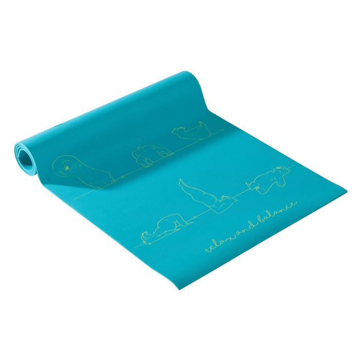 Yogamat voor kinderen berenprint 5 mm blauw
