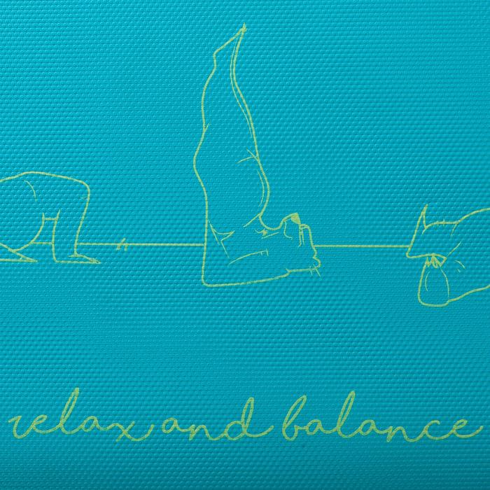 Yogamatte Kinder 5mm bedruckt mit Bärenmotiv blau