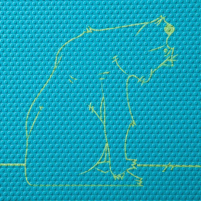 Tapis yoga enfant 5 mm ours bleu - 1288266