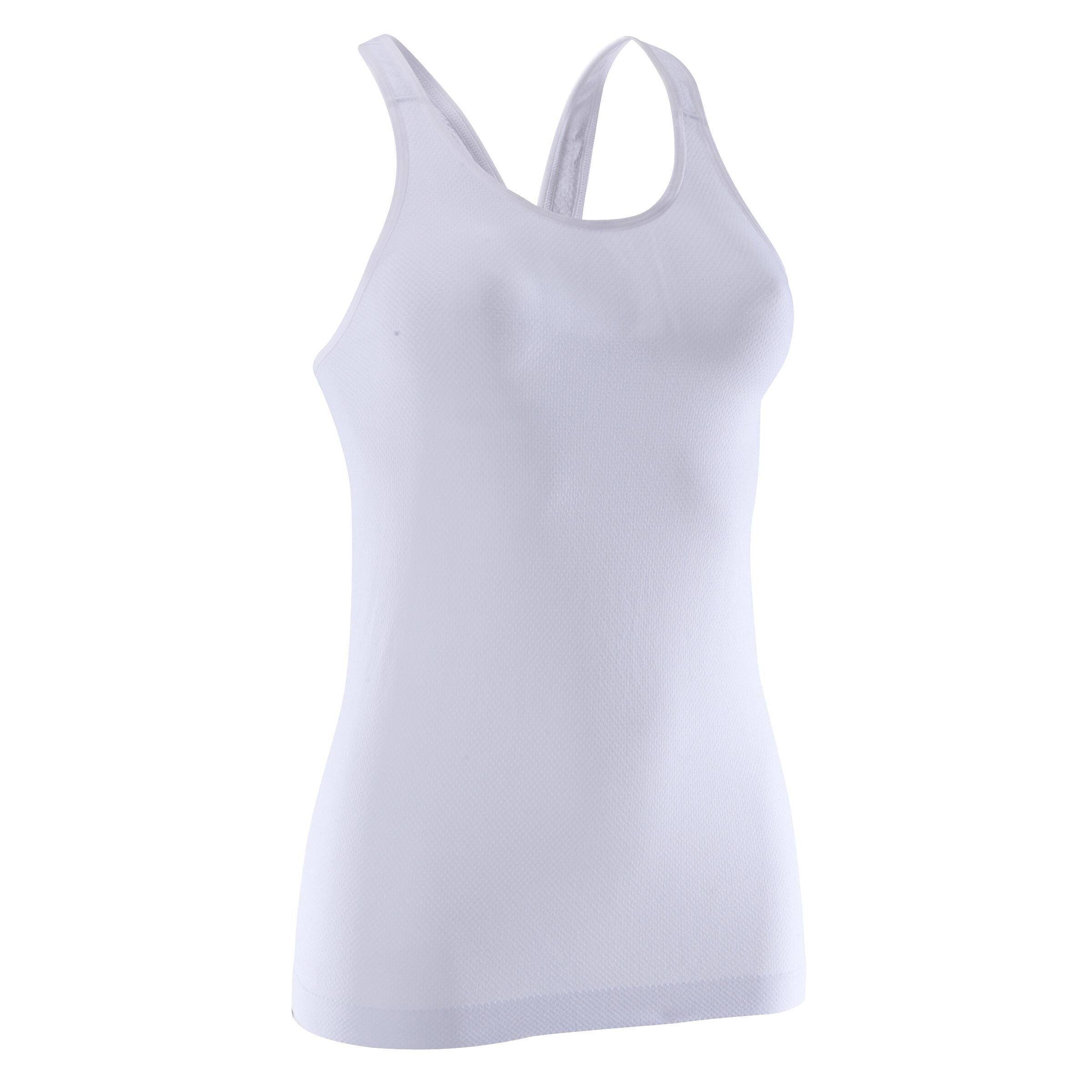 Débardeur sans coutures Yoga+ femme blanc