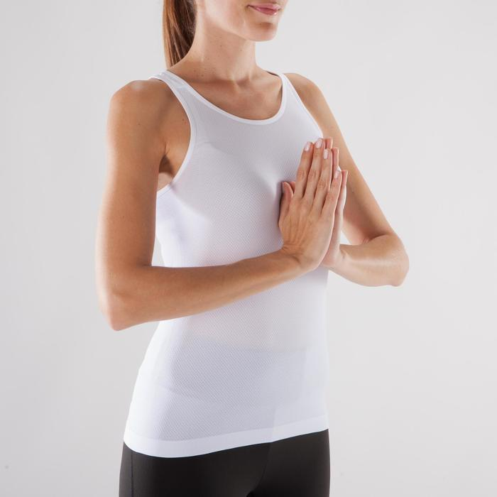 Tank-Top Yoga nahtlos Damen beige
