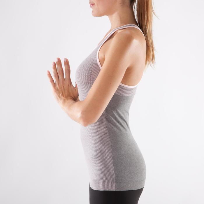Débardeur sans coutures Yoga femme gris/bleu - 1288286