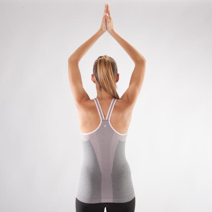 Débardeur sans coutures Yoga femme gris/rose