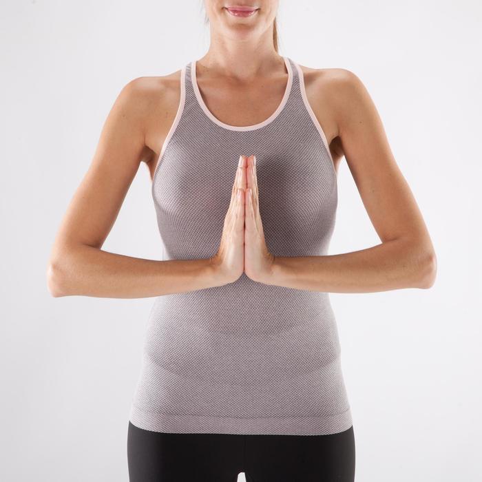 Débardeur sans coutures Yoga femme gris/bleu - 1288292