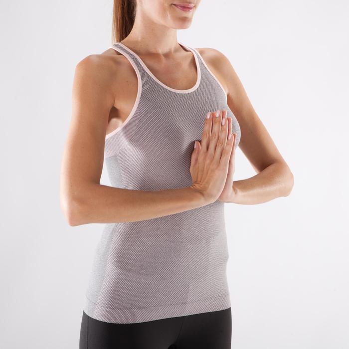 Débardeur sans coutures Yoga femme gris/bleu - 1288293