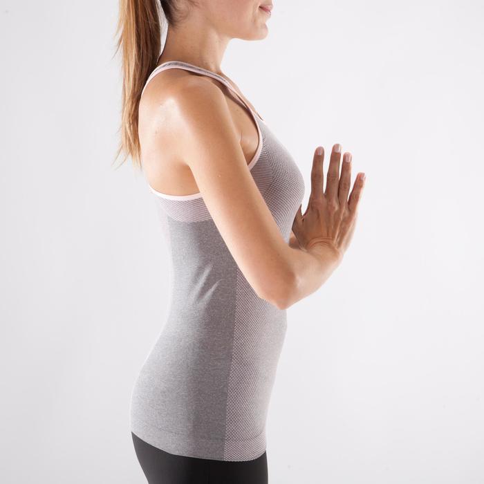 Débardeur sans coutures Yoga femme gris/bleu - 1288294