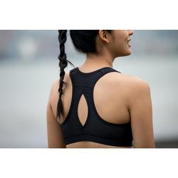 Sport-BH Bustier Easy Zip Reißverschluss schwarz