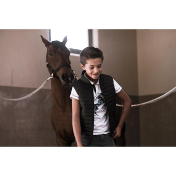 Chaleco Equitación Fouganza 100 Niño Negro de Guata