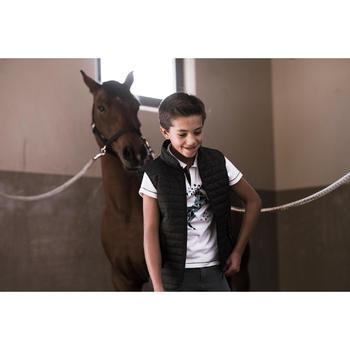 Gilet sans manche équitation enfant 100 noir