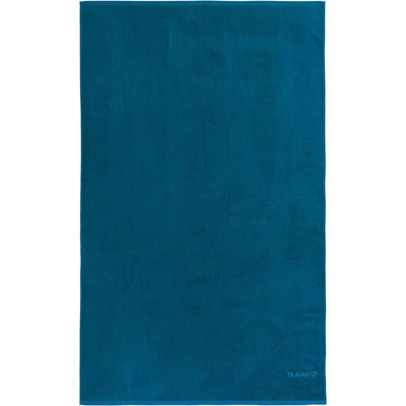 TELI Sport Acquatici - Telo mare BASIC L 145x85 cm blu  OLAIAN - Infradito, accessori mare
