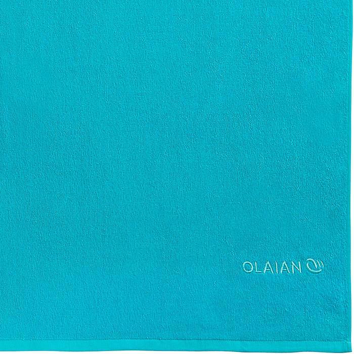 SERVIETTE BASIC L Bleu Martinica 145x85 cm