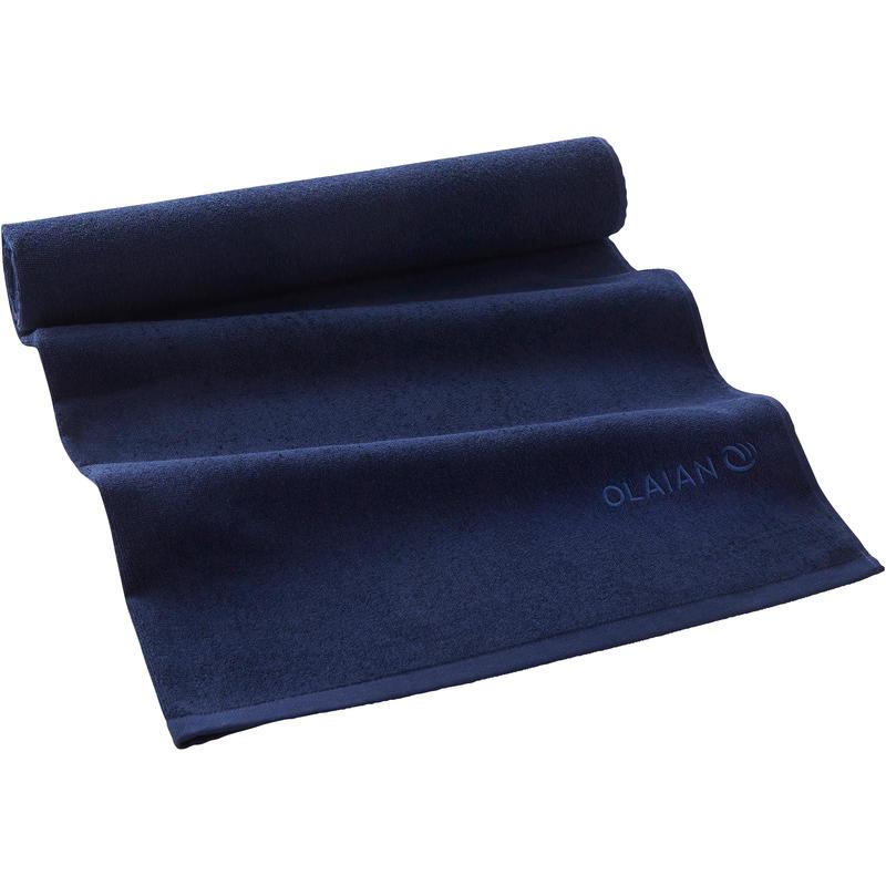 Serviette BASIC L Bleu Foncé 145x85 cm