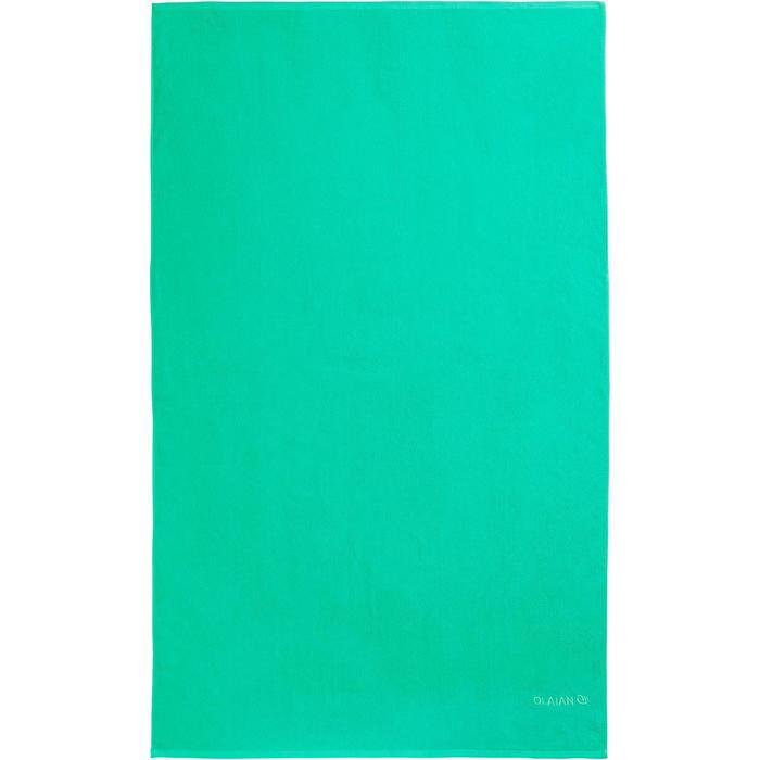 Handdoek Basic L groen 145 x 85 cm - 1288579