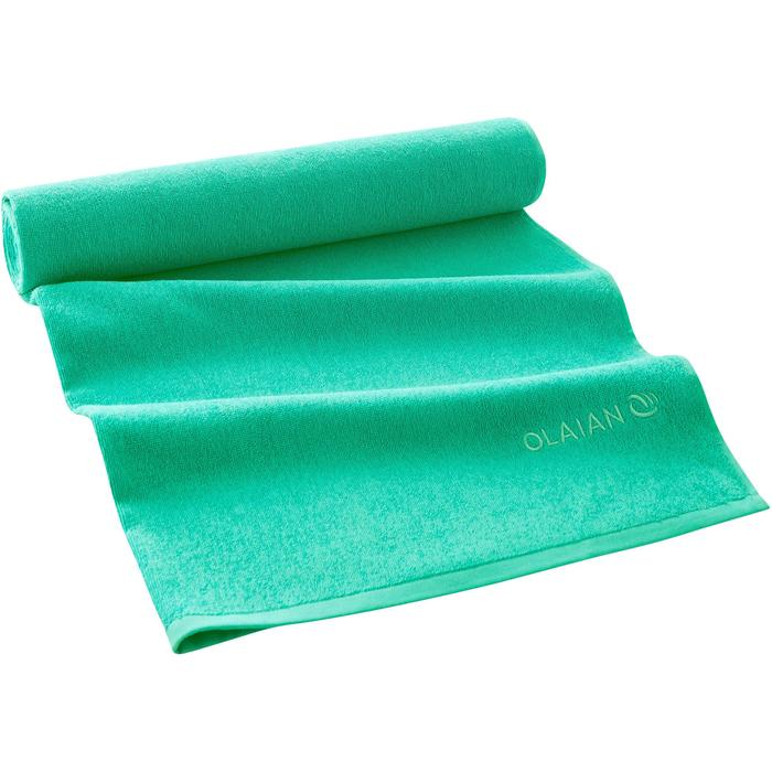 Handdoek Basic L groen 145 x 85 cm