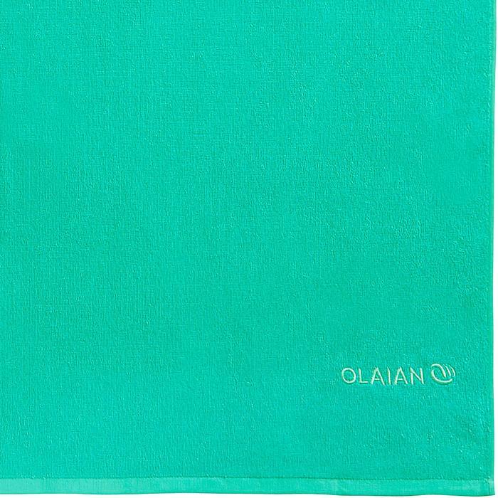 Handdoek Basic L groen 145 x 85 cm - 1288582