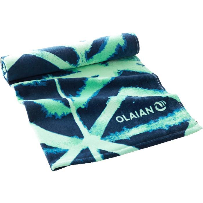 毛巾Basic L號145 x 85 cm-深淵印花款