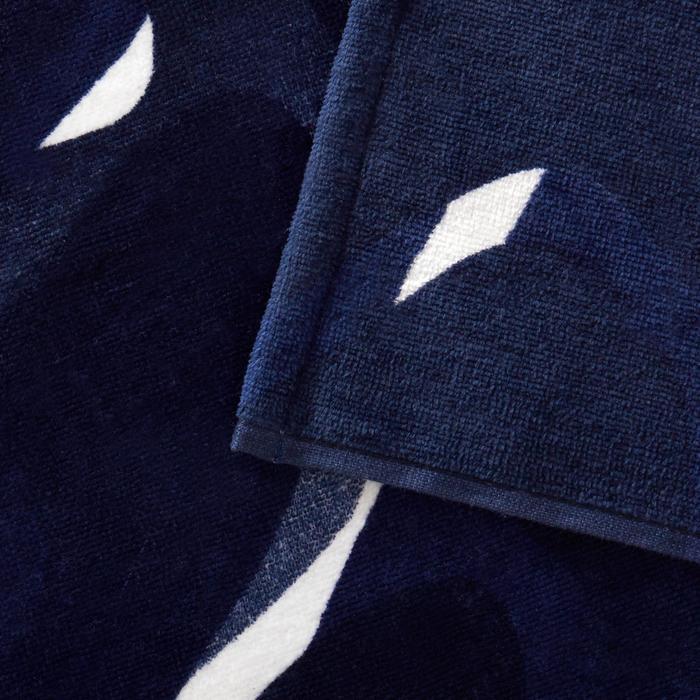 Handdoek Basic L print Camo blauw 145 x 85 cm