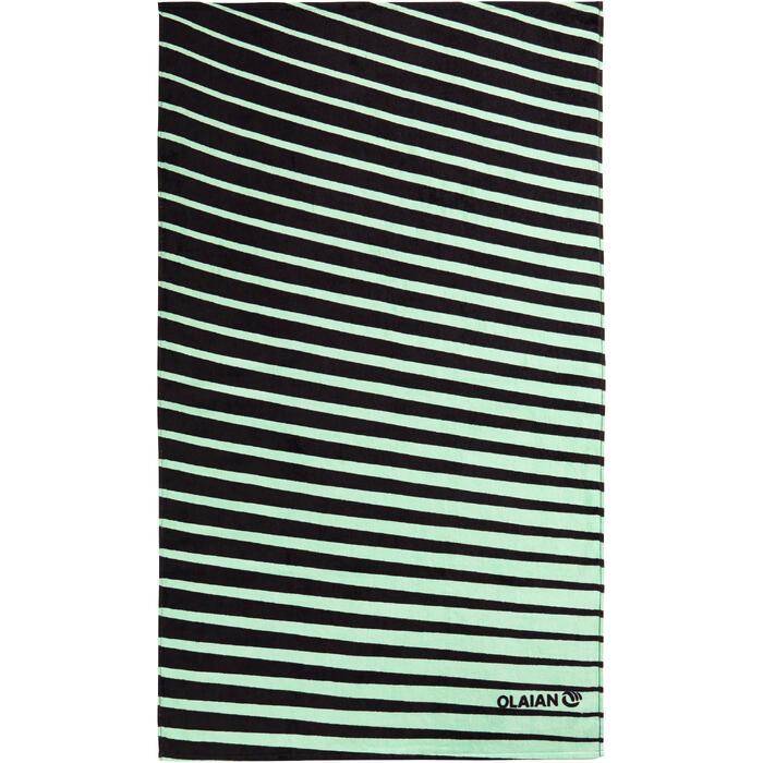 SERVIETTE BASIC L Print Géo Vert 145x85 cm