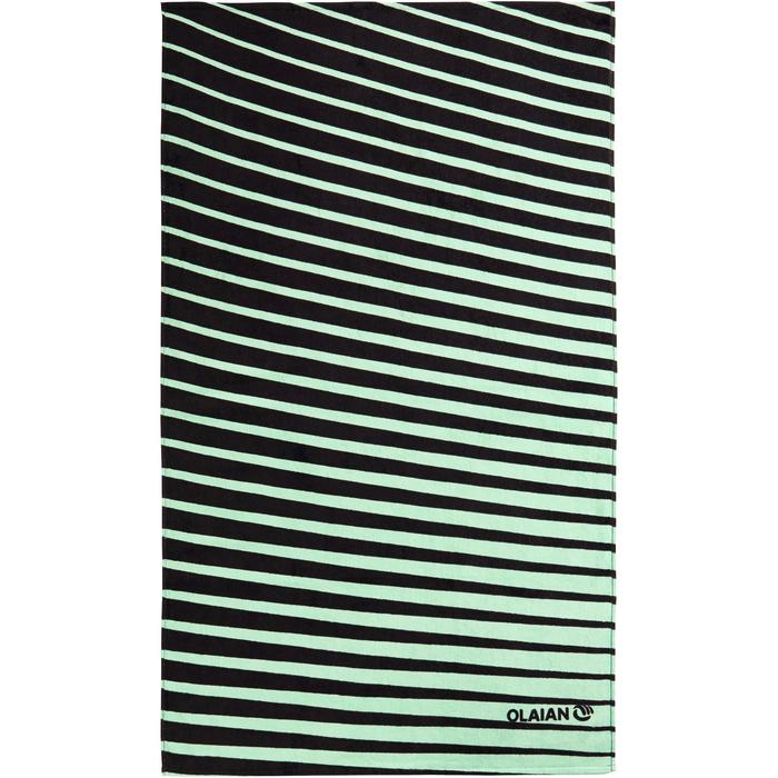 TOALLA BASIC L Print Géo verde 145x85 cm